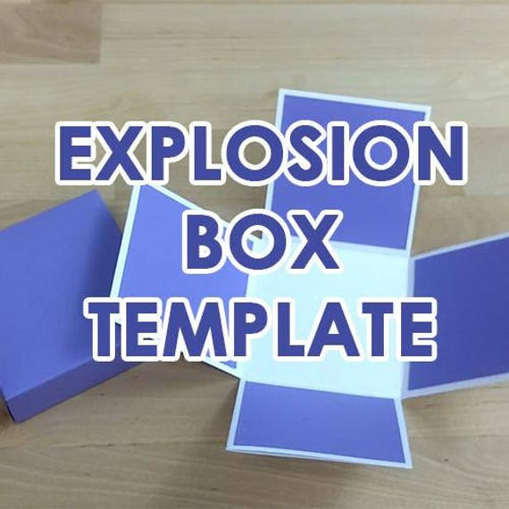 Paper Gift Box Template SVG PDF Exploding Explosion Box Template ...