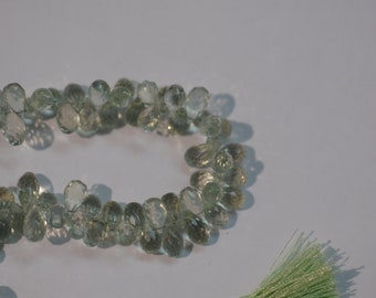 Green Amethyst Drops Faceted