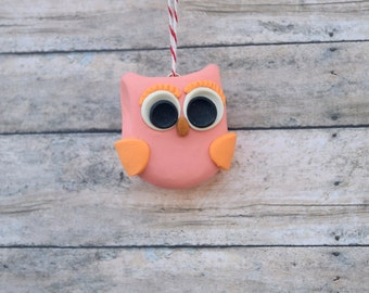 Owl Ornament, owl home decor, personalized owl ornament, Christmas ornament