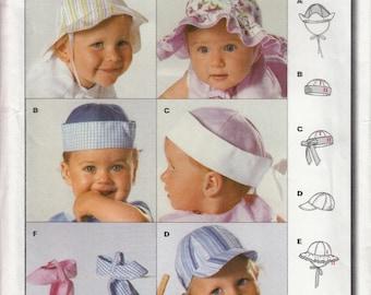 Burda 9810 Sewing Pattern Baby Hats and Caps - UNCUT