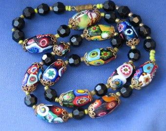 Vintage Millefiore Glass Necklace