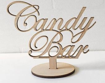 Candy Bar, Wedding Deco Signs, Wedding table Sign, Wedding Decorations