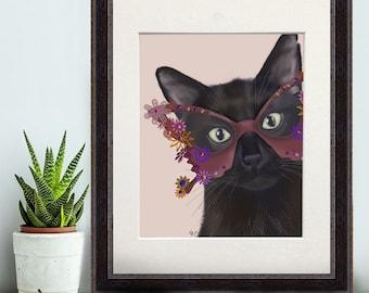 cat lover gift Gift for Black lover Cat gift - Flower Sunglasses - black cat print black cat art black cat decor black cat poster funny cat