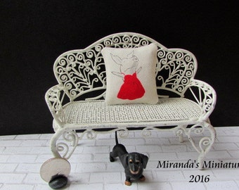 Dollhouse Miniature Olivia Pillow