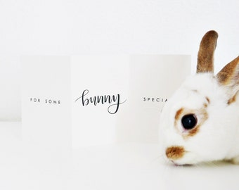 Easter Card / For Some Bunny Special / Hand Lettered, Love, Spring Card / Blank Inside / Charitable Donation