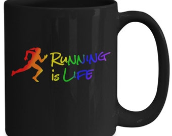 Girljox - running is life - coffee mug