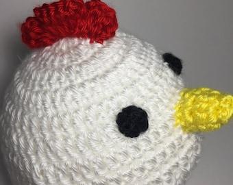 baby hat, baby beanie hat, baby animal hat, crochet hat, cute hat, baby girl hat, baby boy hat, chicken hat, newborn hat