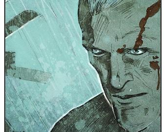 Blade Runner - Roy Batty Replicant colour art print