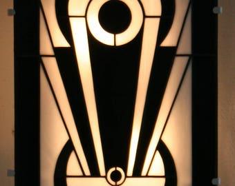 "Applique Wall Art Deco, Applique Tiffany stained glass Tiffany ""Tamara"""