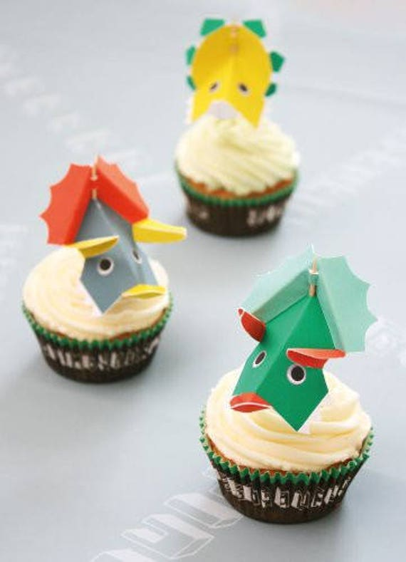 Dinosaur birthday party cupcake toppers dinosaur party cupcakes