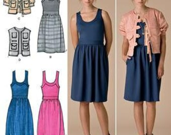 Simplicity Sewing Pattern 0469 (aka 2443) - Misses' Dress, Jacket, Vest (14-22)