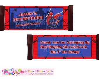Spiderman Candy Wrapper - DIY Printable