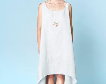 Sale Powder Blue Maxi Chambray Maxi Dress. Light Blue Dress. Asymmetrical Loose Dress. Cotton Chambray. Pastel Blue. Frederique Dress SS16