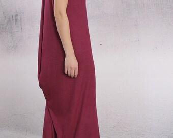 Dress, Long party dress, Maxi dress, Asymmetric dress, Feminine dress, Comfortable elegant dress by UrbanMood - FP-MIRA-VL