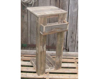 Side table made of pallet wood coffee table range furniture recycle upcycling table standing table