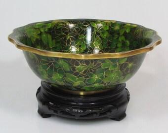 A Bowl of cloisonné enamel