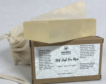 """Organic Glycerine Soap with Shea Butter """"Not Just for Men"""" Approx 4 oz."""