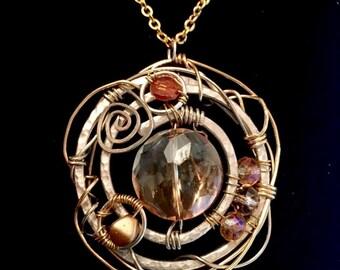 Galaxy Swirl Pendant Necklace