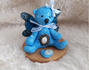 Winged blue bear