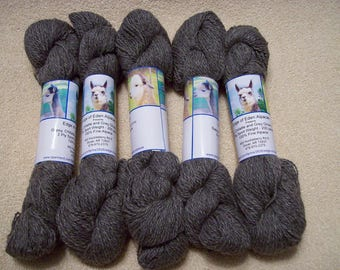 Alpaca Yarn – Gypsy, Chillatte, and Grey Ghost (2 ply sport weight)