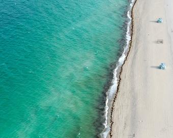 Lifeguard Stands (vertical) - Aerial Beach Photography