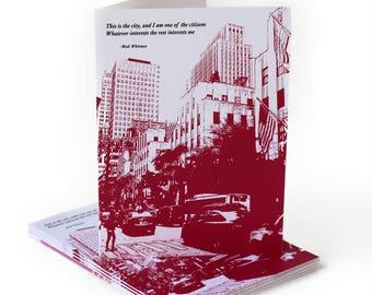 Walt Whitman Greeting Card on Cities