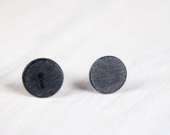 Black Earrings, Mens Gothic, Small Ear Studs, Mens Earrings, Mens Studs, Black Post Earrings, Simple Earrings
