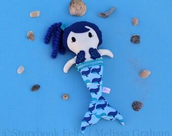 Mermaid Doll, Cloth Doll, Rag Doll, Soft Doll, Baby Doll, Handmade Doll, Fabric Doll, Doll, Handmade Cloth Doll, Girl Gift