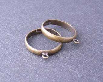 10 support of adjustable ring with a ring of catcher Diam 18 mm - bronze (BA0103)