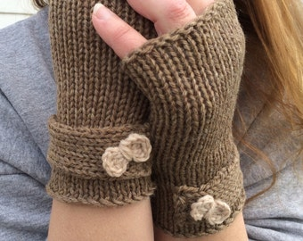 Bow gloves, Fingerless Gloves, Knit Fingerless Gloves with Bow, Knit Fingerless gloves, Wrist Warmers, Hand Warmers, Texting Gloves