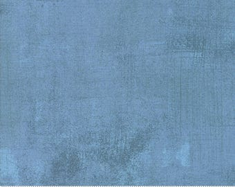 Grunge Basics New in Faded Denim by Basic Grey for Moda Fabrics 1/2 Yard