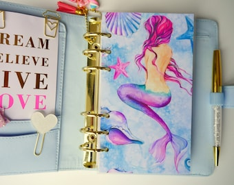Watercolour Mermaid Personal, A5, A6, B6 & Pocket Size Planner Dashboards