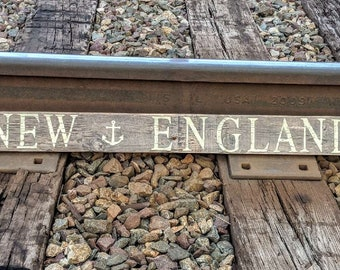 New England Reclaimed Wood Sign
