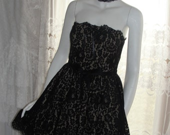 Black lace dress, black dress, lace dress, black lace, little black dress, dress lace, french chic, party dress