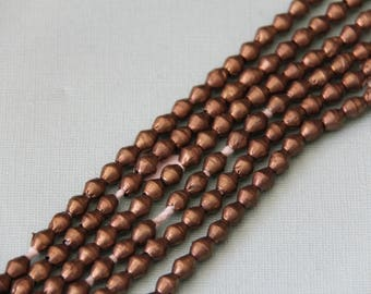 Bronze Bi-Cone Beads from Ethiopia - METAL 049