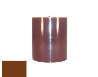 3 x 3.5 Brown Classic Hand-poured Unscented Pillar Candles Solid Color