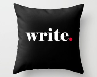 Writer Pillow Cover, Write Pillow, Author Pillow Cover, Book Pillow, Writer Pillow, Write Pillow Cover, Writer gift, writer inspiration, dot