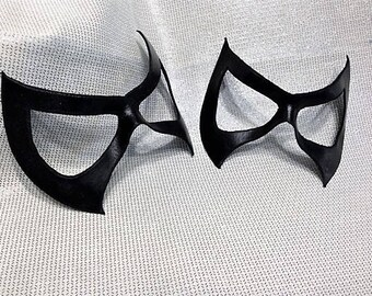 Leather Black Cat Inspired Mask