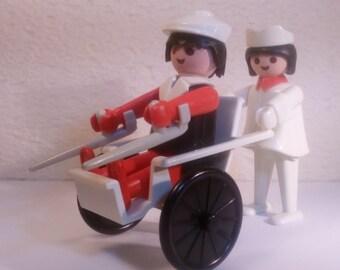 PLAYMOBIL / nurse and patient / city / fire / Vintage