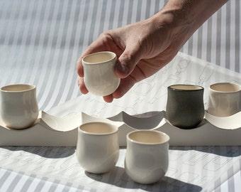 Mug Set, Tea Ceremony, Shot Glasses, Porcelain Cups, Birthday Cups, Ceramic Pottery, Tea Lovers Gift, Mug Pottery, Wedding Gift Ceramic
