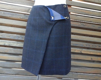 SALE! 40%. Reversible silk and wool skirt. price initial 120eur, now 72 euros
