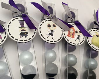 Nightmare Before Christmas baby shower birthday gum ball party favors