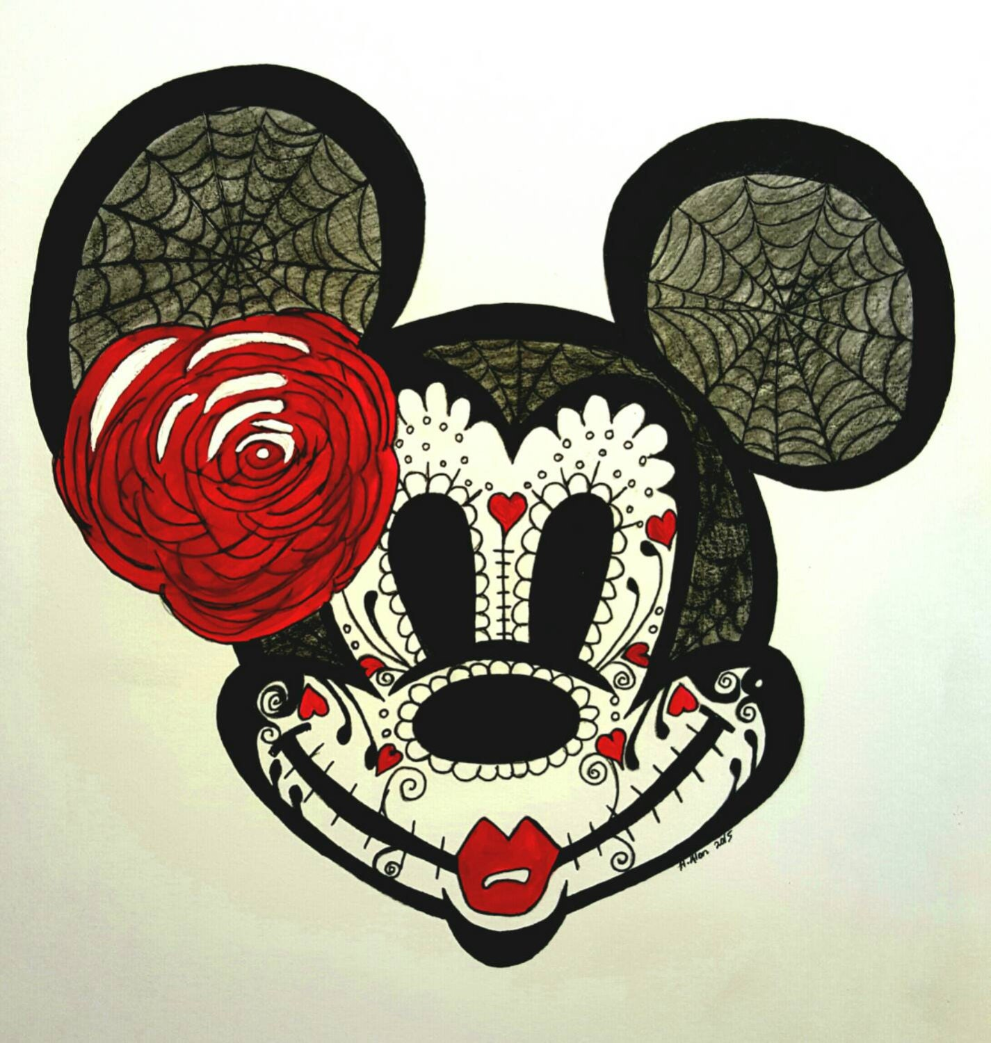 Day of the dead minnie mouse zoom biocorpaavc