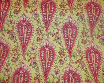 Cypress Paisley By Amy Butler Love collection called Cypress Paisley on light green 1 yard cotton quilt fabric
