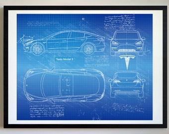 Car blueprint etsy malvernweather Image collections