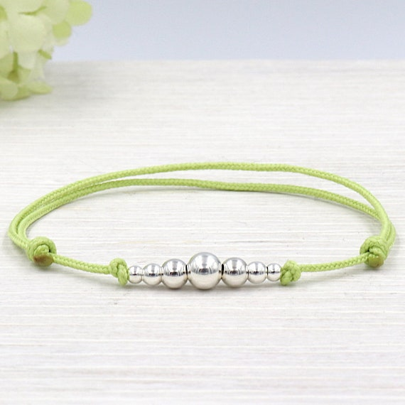 Cord to choose pearls round degraded Sterling 925 silver bracelet