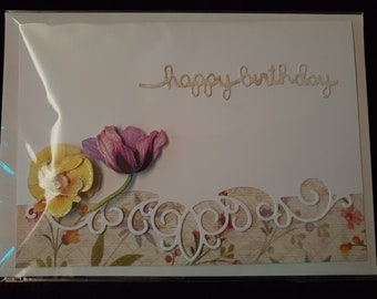 Birthday Card -Double Pansy