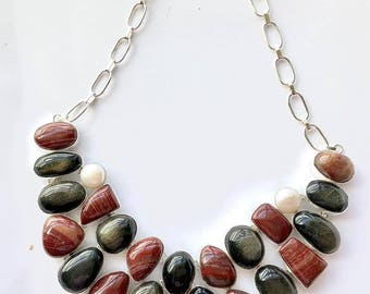 Classy agate stone necklace