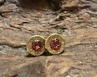 Vintage Rose 9mm bullet earrings
