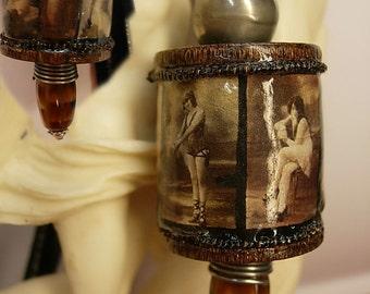 Risque Nude Filmstrip necklace Nouveau beauties pendant